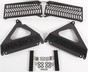 Unabiker Radiator Guards Black For Yamaha YZ450F 10-13 YYZ450F3-K