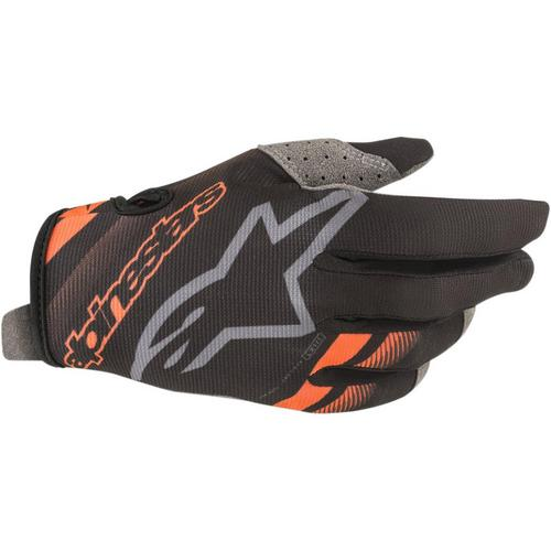Alpinestars Radar Gloves Black/Fluo Orange (Black, X-Large)
