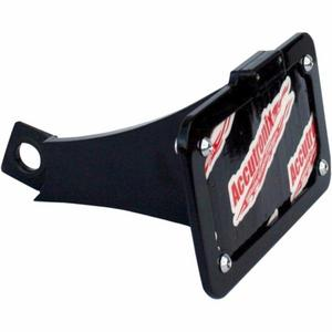 Accutronix LPF092HV-B Side Mount License Plate - Black