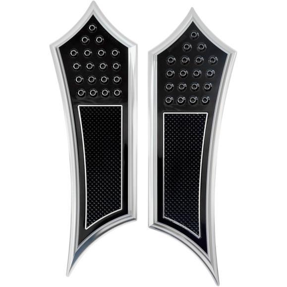 Accutronix FBF91-KDIN Extended Drilled Instigator Floorboards - Knurled Heel - Night Series