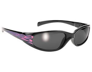 Pacific Coast Sunglasses 68304 Biker Chix Sunglasses - Heavenly Flames - Black Frames/Smoke Lens