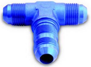 A-1 Products 6 AN Male Blue Aluminum Bulkhead Tee P/N 83406