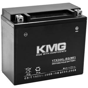 KMG YTX24HL-BS Sealed Maintenace Free 12V Battery High Performance SMF OEM Replacement Maintenance Free Powersport Motorcycle ATV Scooter Snowmobile Watercraft KMG