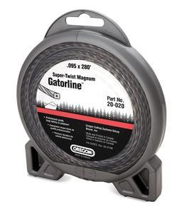 """Oregon 20-020 Super-Twist Magnum Gatorline String Trimmer Line .095"""" Diameter, 1 Lbs Donut"""