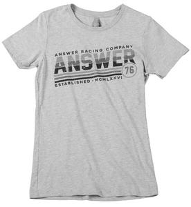 Answer Ascend Womens T-Shirt Heather Gray (Gray, X-Large)