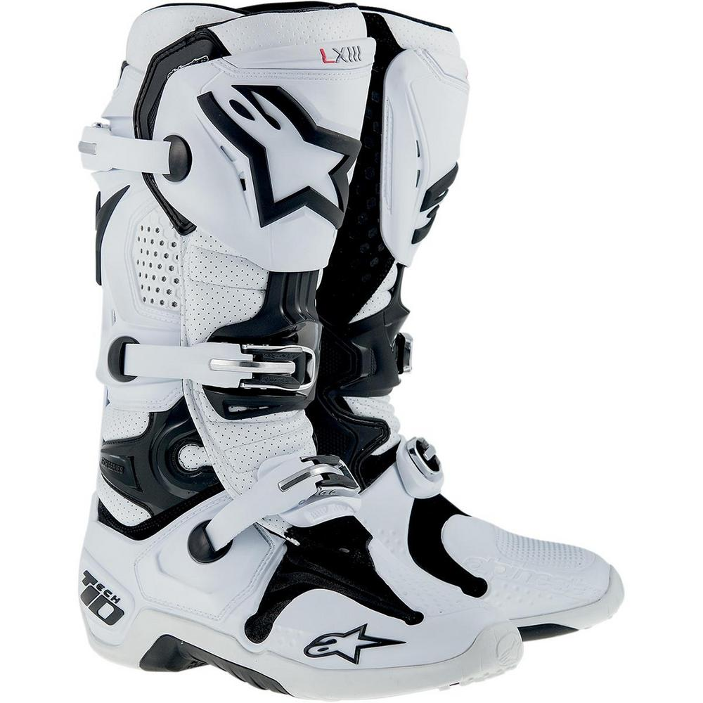 Alpinestars Tech 10 Vented Boots (White, 9)
