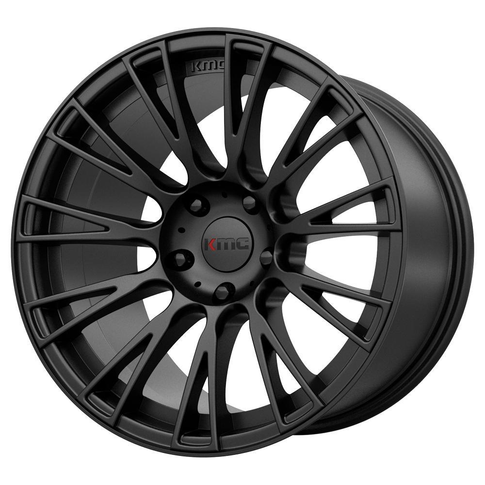 "KMC KM706 Impact 20x8.5 5x115 +25mm Satin Black Wheel Rim 20"" Inch"