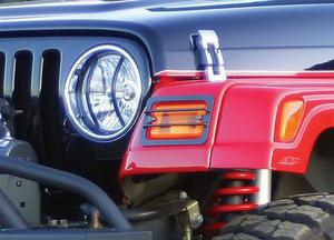 Rampage 5660 Euro Head Light Guard Fits 97-06 Wrangler (LJ) Wrangler (TJ)