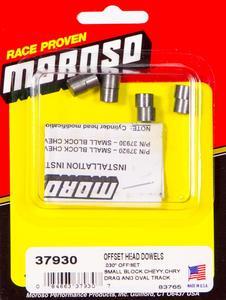 Moroso Cylinder Head Dowels 0.030 in Offset SBC/Mopar 4 pc P/N 37930