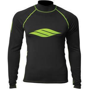 Slippery Long Sleeve Rashguard Black/Lime (Black, X-Small)