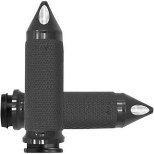 Avon Grips MF-63B-AN-FL-SP Memory Foam Grips with Spiked Ends - 1.625in. - Black
