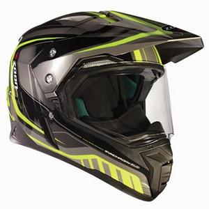 Zoan Synchrony Duo-Sport Tourer Graphics Helmet (Yellow, Large)