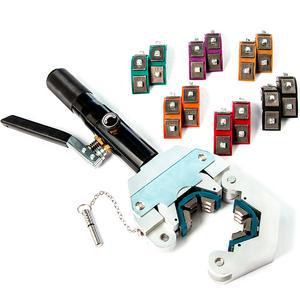 Hydraulic Hose Crimper Manual A/C Hose Crimping Tool Kit Die Sizes #6 #8 #10 #12