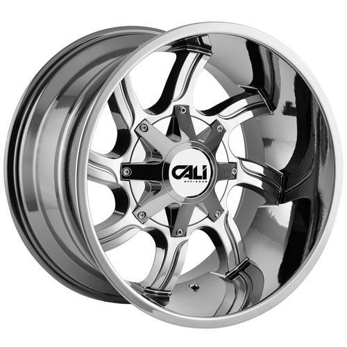"4-Cali Off-Road 9102 Twisted 20x12 6x135/6x5.5"" -44mm Chrome Wheels Rims 20 Inch"