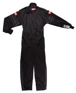 RACEQUIP Black Youth 2X-Small Single Layer Driving Suit P/N 1959990