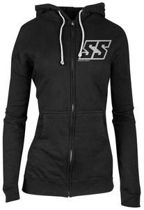 Speed & Strength Corporate Womens Zip Hoody Black/Gray (Black, X-Large)