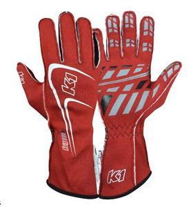 K1 RACEGEAR 23-TR1-R-XL Glove Track1 Red X-Large SFI 5