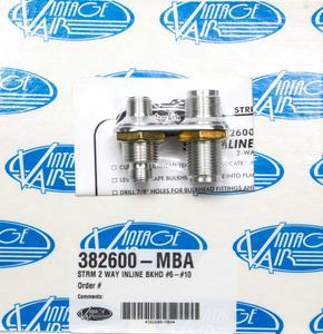 VINTAGE AIR Polished Aluminum 2 Port Streamline Bulkhead Plate P/N 382600-MBA