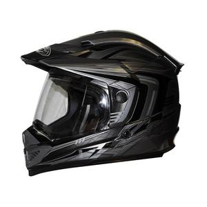 Zox Rush SFX Adventure Dual Sport Full Face Helmet Silver Adult Size XS