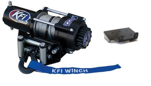 2002-2007 Suzuki LT-F400F Eiger 4x4 ATV New KFI 2500 lb Winch /& Model Specific Mounting Bracket
