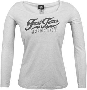 Speed & Strength Fast Times Womens Long Sleeve T-Shirt (White, X-Large)