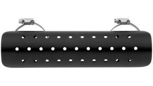Bikers Choice 18-025BK Universal Heat Shield - 9in. - Black