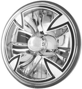 Adjure T50X00 5 3/4in. Diamond Cut Iron Cross Headlight