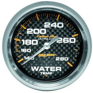 AutoMeter 4831 Carbon Fiber Mechanical Water Temperature Gauge