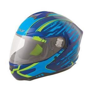 Fly Racing Luxx Shock Helmet Blue/Navy/Hi-Vis (Blue, X-Small)