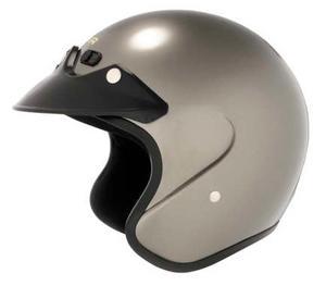 Cyber U-6 Motorcycle Open Face Helmet Deep Silver S