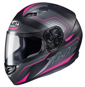 HJC CS-R3 Trion Helmet Semi-Flat Pink (MC-8SF) (Black, Medium)