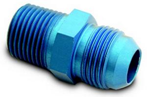 A-1 Products 8 AN Male to 3/8 in NPT Male Aluminum Straight Fitting P/N 81608