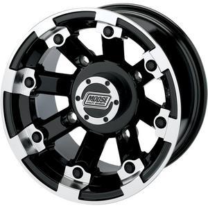 Moose Utility 0230-0536 Type 393X Rear Wheel - 15x8 - 4+4 Offset - 4/156 - Black