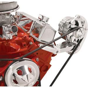 BILLET SPECIALTIES Small Block Chevy Polished Alternator Bracket Kit P/N 10420