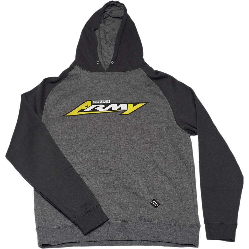 Factory Effex Suzuki Army Youth Hoody Charcoal/Black (Gray, Small)