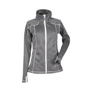 DSG Performance Fleece Womens Jacket Black Heather/White (Black, Small)