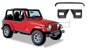 Bushwacker 14005 Front Fender and Stone Guard Set for 1997-2006 Jeep Wrangler TJ