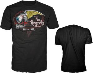 Lethal Threat Adult No Regrets Black Tee Shirt L