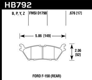 Hawk Performance HB792Z.676 Disc Brake Pad Fits 15-17 F-150