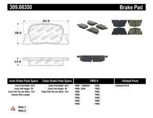 StopTech 309.08350 StopTech Sport Brake Pads Fits 00-10 Camry ES300 tC