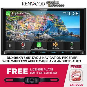 "Kenwood Excelon DNX996XR Nav/DVD Receiver 6.8"" & License Plate Camera"