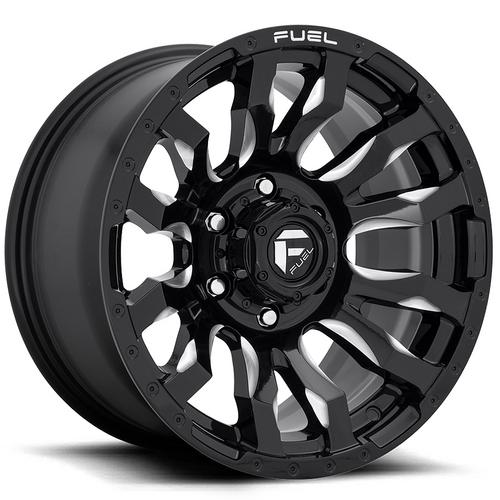 "Fuel D673 Blitz 20x10 6x135 -18mm Black/Milled Wheel Rim 20"" Inch"