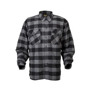 Scorpion Adult Covert Flannel Motorcycle Riding Shirt XL Black/Grey