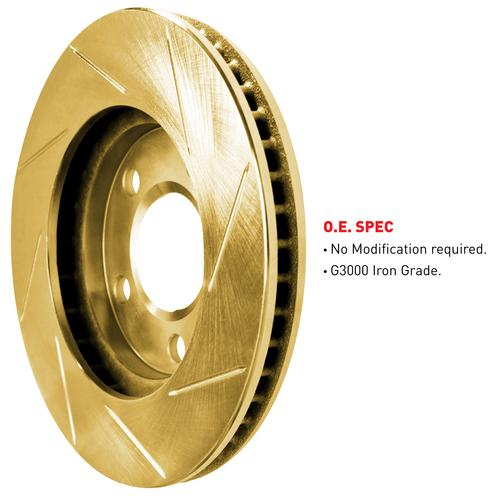 [REAR] Gold Edition Slotted Brake Rotors & Semi-Met Brake Pads