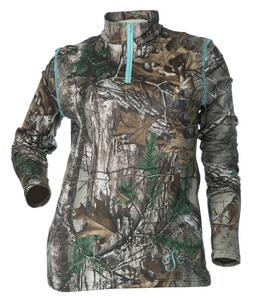 DSG Diva-Tech Base Layer Womens Pants Realtree/Aqua (Brown, X-Small)