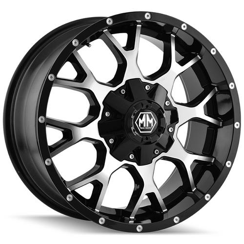 "4-Mayhem 8015 Warrior 17x9 8x6.5""/8x170 -12mm Black/Machined Wheels Rims 17 Inch"