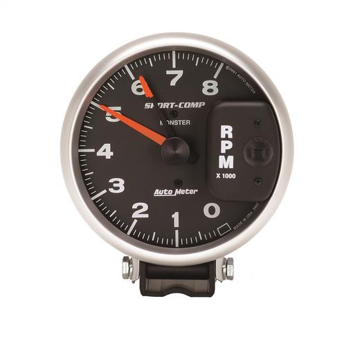 AutoMeter 3980 Sport-Comp Monster Tach. 8000 RPM For 4/6/8 Cyl. Eng. w/Points