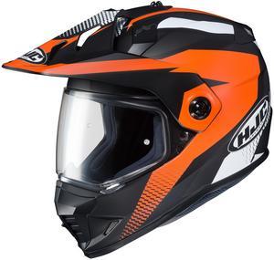 HJC DS-X1 Awing Helmet Semi-Flat Dull Orange (MC-7SF) (Orange, X-Small)