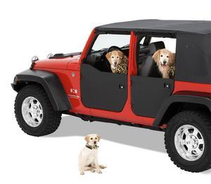 Bestop HighRock 4x4 Element Doors Panels; Front - Jeep 2007-2018 Wrangler JK 2DR