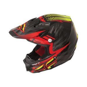 Fly Racing 73-4617 Visor for F2 Carbon 2014 Shorty Helmet - Black/Red/Lime
